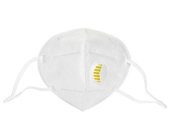 Респиратор - маска медицинская KN95 FFP2 с клапаном защиты, 5 слоев, РУ, 1 шт., фото , изображение 2