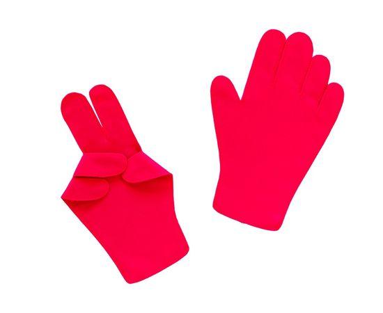 Перчатки детские тканевые тонкие, красные, Размер: для детей от 6 до 12 лет, Цвет перчаток: Красный, Тип товара: Перчатки тканевые, фото