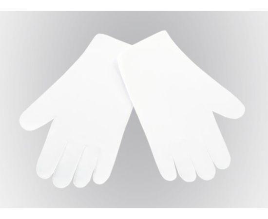 Перчатки тканевые тонкие, белые, размер L (1 пара), Размер: L, Цвет перчаток: Белый, Тип товара: Перчатки тканевые, фото