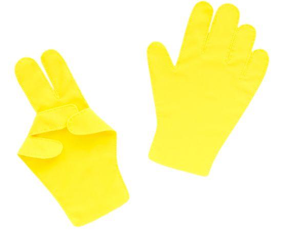 Перчатки детские тканевые тонкие, жёлтые, Размер: для детей от 6 до 12 лет, Цвет перчаток: Жёлтый, Тип товара: Перчатки тканевые, фото