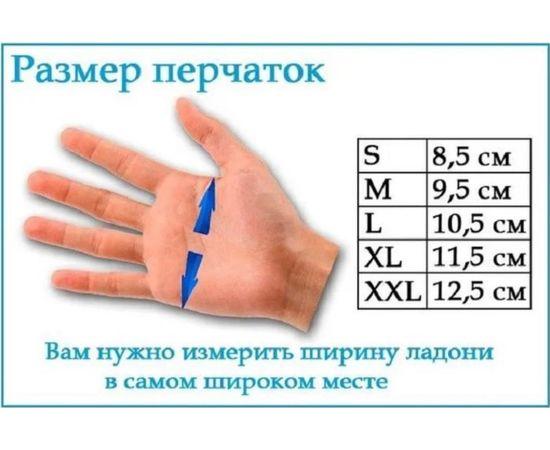 Перчатки хлопковые защитные с логотипом, чёрные, размер L, Размер: L, Цвет перчаток: Черный, фото , изображение 5