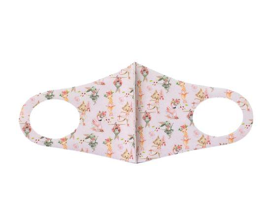 Детская текстильная маска (розовая мечта), С рисунком: с принтом, Размер: детский (6-12 лет), Цвет маски: Розовая, Тип товара: Многоразовая маска, фото