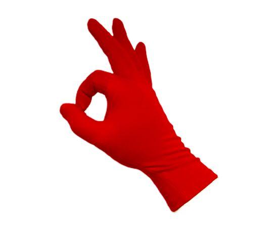 Перчатки трикотажные защитные, красные, размер M, Размер: M, Цвет перчаток: Красный, Тип товара: Перчатки тканевые, фото