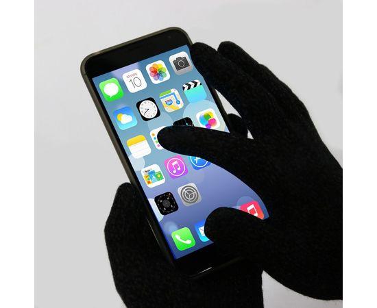 Перчатки хлопковые защитные с логотипом, чёрные, размер L, Размер: L, Цвет перчаток: Черный, фото , изображение 4
