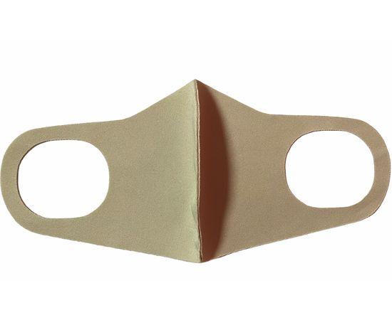 Маска из неопрена многоразовая, бежевая, размер L-XL (1 шт.), С рисунком: без принта, Размер: L-XL (окружность 55-63), Цвет маски: Бежевая, Тип товара: Многоразовая маска, фото