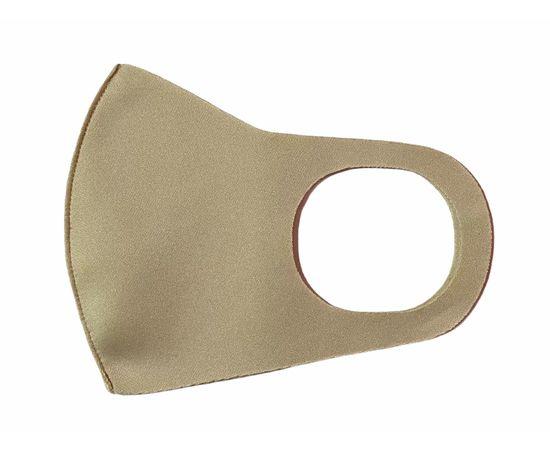 Маска из неопрена многоразовая, бежевая, размер L-XL (1 шт.), С рисунком: без принта, Размер: L-XL (окружность 55-63), Цвет маски: Бежевая, Тип товара: Многоразовая маска, фото , изображение 2