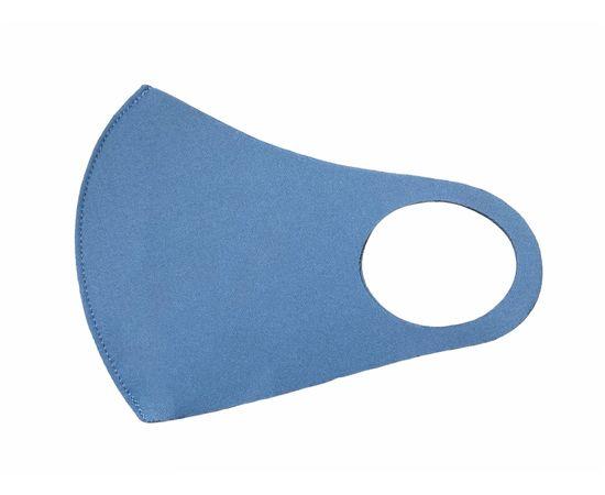 Маска из неопрена многоразовая, голубая, размер S-M (1 шт.), С рисунком: без принта, Размер: S-M (окружность 48-55), Цвет маски: Голубая, Тип товара: Многоразовая маска, фото , изображение 2