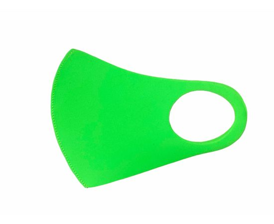 Маска из неопрена многоразовая, салатовая, размер S-M (1 шт.), С рисунком: без принта, Размер: S-M (окружность 48-55), Цвет маски: Салатовая, Тип товара: Многоразовая маска, фото , изображение 2