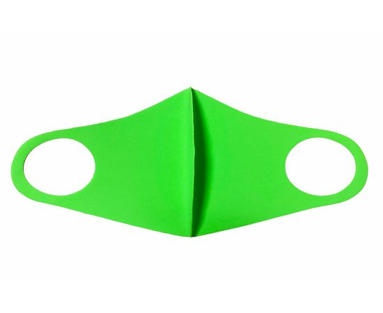 Маска из неопрена многоразовая, салатовая, размер S-M (1 шт.), С рисунком: без принта, Размер: S-M (окружность 48-55), Цвет маски: Салатовая, Тип товара: Многоразовая маска, фото