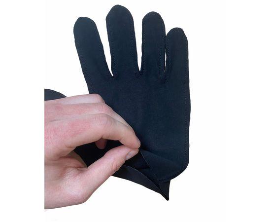 Перчатки трикотажные защитные, черные, размер M (ЭКОНОМ), Тип товара: Перчатки тканевые, Размер: M, Цвет перчаток: Черный, фото , изображение 4