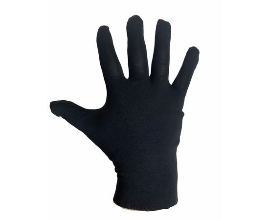 Перчатки трикотажные защитные, черные, размер M (ЭКОНОМ), Тип товара: Перчатки тканевые, Размер: M, Цвет перчаток: Черный, фото