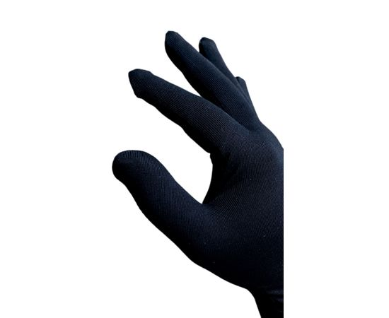Перчатки хлопковые защитные с логотипом, чёрные, размер L, Размер: L, Цвет перчаток: Черный, фото , изображение 2
