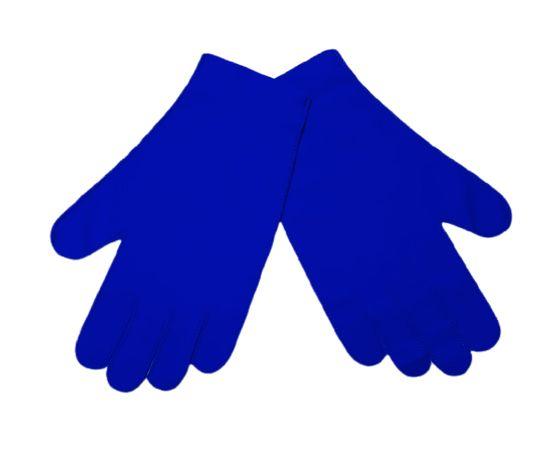 Перчатки тканевые тонкие, синие, размер L (1 пара), Размер: L, Цвет перчаток: Синий, Тип товара: Перчатки тканевые, фото