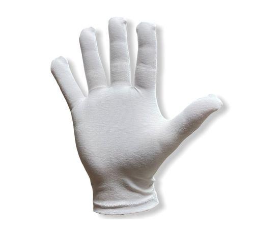 Перчатки хлопковые защитные, белые, размер L, Размер: L, Цвет перчаток: Белый, Тип товара: Перчатки тканевые, фото , изображение 2
