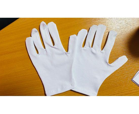 Перчатки хлопковые защитные, белые, размер L, Размер: L, Цвет перчаток: Белый, Тип товара: Перчатки тканевые, фото , изображение 4