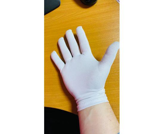 Перчатки хлопковые защитные, белые, размер S, Размер: S, Цвет перчаток: Белый, Тип товара: Перчатки тканевые, фото , изображение 5