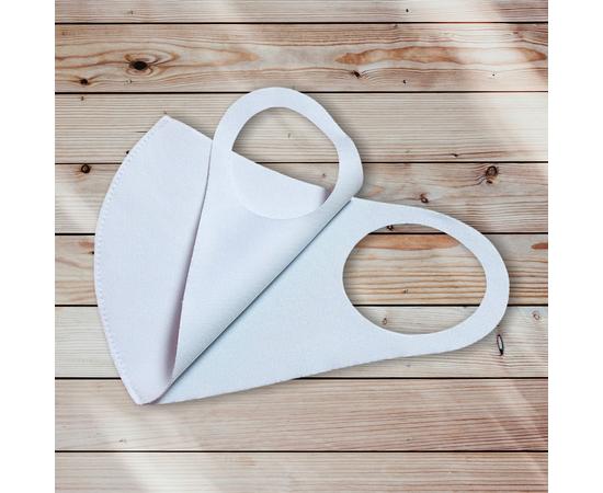 Маска из неопрена многоразовая, белая (1 шт.), С рисунком: без принта, Размер: S-M (окружность 48-55), Цвет маски: Белая, Тип товара: Многоразовая маска, фото , изображение 3