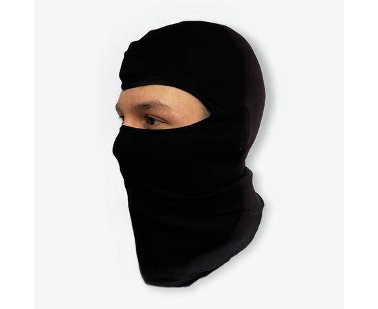 Подшлемник (Балаклава), трикотажный х/б, черный, фото , изображение 2