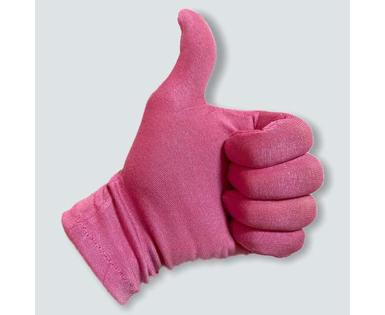 Перчатки трикотажные защитные, розовые, размер M, Размер: M, Цвет перчаток: Розовый, Тип товара: Перчатки тканевые, фото