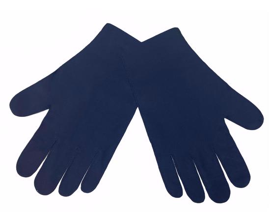 Перчатки тканевые тонкие, темно-синие, размер L (1 пара), Размер: L, Цвет перчаток: Темно-синий, Тип товара: Перчатки тканевые, фото