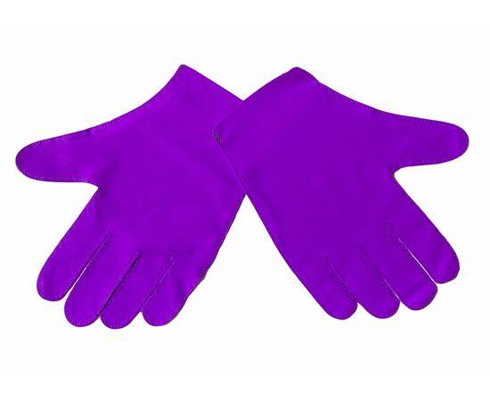 Перчатки тканевые тонкие, фиолетовые, размер M (1 пара), Размер: M, Цвет перчаток: Фиолетовый, Тип товара: Перчатки тканевые, фото