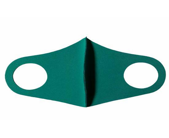 Детская многоразовая маска из неопрена, зелёная, С рисунком: без принта, Размер: детский (6-12 лет), Цвет маски: Бирюзовая, Тип товара: Многоразовая маска, фото