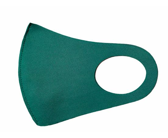 Детская многоразовая маска из неопрена, зелёная, С рисунком: без принта, Размер: детский (6-12 лет), Цвет маски: Бирюзовая, Тип товара: Многоразовая маска, фото , изображение 2