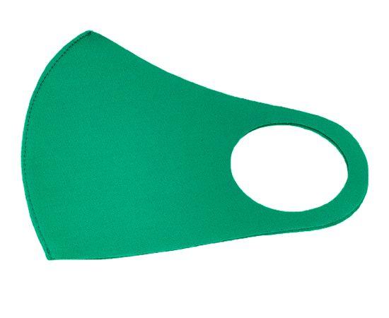 Маска из неопрена многоразовая, зелёная, размер S-M (1 шт.), С рисунком: без принта, Размер: S-M (окружность 48-55), Цвет маски: Зелёная, Тип товара: Многоразовая маска, фото , изображение 2