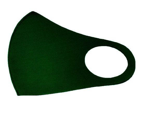 Маска из плотного неопрена 2 мм многоразовая, размер XXL темно-зеленая, С рисунком: без принта, Размер: XXL (окружность 63-71), Цвет маски: Темно-зелёная, Тип товара: Многоразовая маска, фото , изображение 2