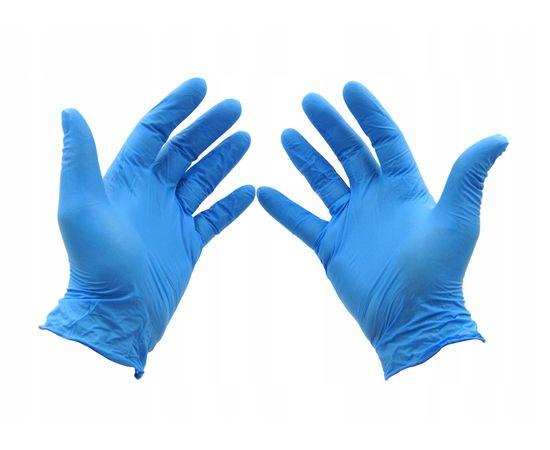 Перчатки одноразовые нитриловые Wally Plastic голубые, размер XL, 50 пар (100 шт.), Размер: XL, Цвет: голубой, фото
