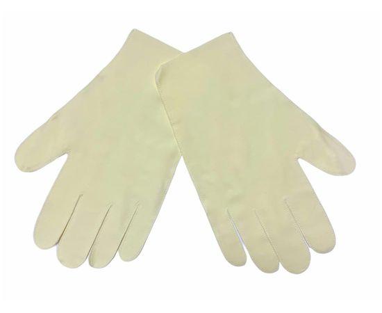 Перчатки тканевые тонкие, молочные, размер S (1 пара), Размер: S, Цвет перчаток: Молочный, Тип товара: Перчатки тканевые, фото