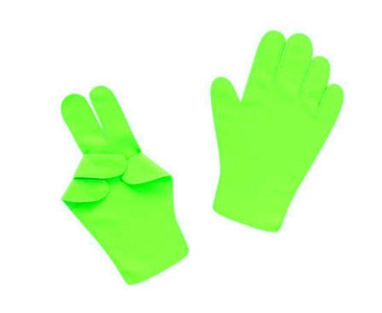 Перчатки детские тканевые тонкие, салатовые, Размер: для детей от 6 до 12 лет, Цвет перчаток: Салатовый, Тип товара: Перчатки тканевые, фото