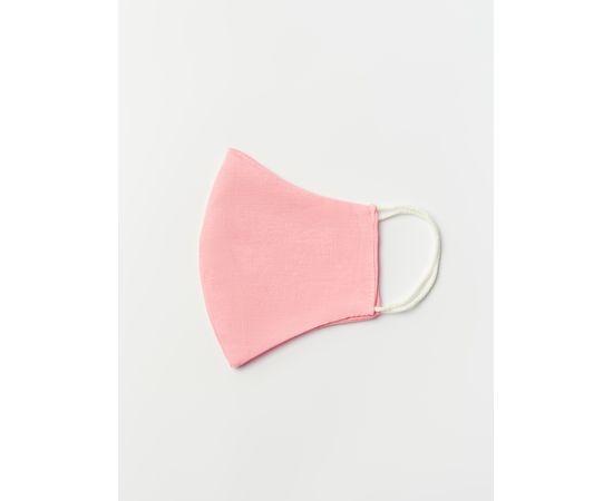 Маска многоразовая защитная из 100% хлопка на резинках, розовая, Цвет маски: Розовая, Тип товара: Многоразовая маска, фото , изображение 3