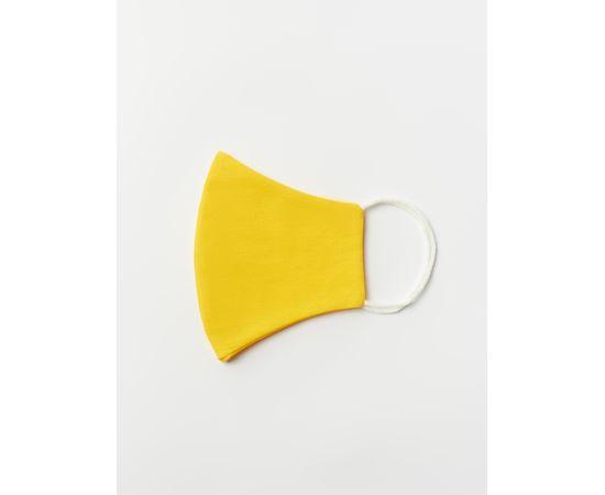 Маска многоразовая защитная из 100% хлопка на резинках, жёлтая, Цвет маски: Жёлтая, Тип товара: Многоразовая маска, фото , изображение 3