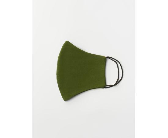 Маска многоразовая защитная из 100% хлопка на резинках, хаки, Цвет маски: Хаки, Тип товара: Многоразовая маска, фото , изображение 3