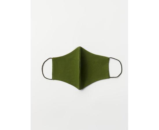 Маска многоразовая защитная из 100% хлопка на резинках, хаки, Цвет маски: Хаки, Тип товара: Многоразовая маска, фото , изображение 2