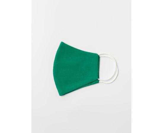 Маска многоразовая защитная из 100% хлопка на резинках, зелёная, Цвет маски: Зелёная, Тип товара: Многоразовая маска, фото , изображение 3