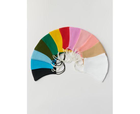Маска многоразовая защитная из 100% хлопка на резинках, зелёная, Цвет маски: Зелёная, Тип товара: Многоразовая маска, фото , изображение 4