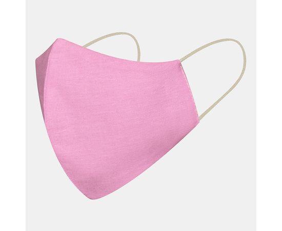 Маска многоразовая защитная из 100% хлопка на резинках, сиреневая, Цвет маски: Сиреневая, Тип товара: Многоразовая маска, фото