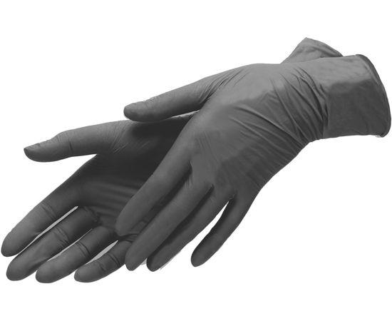 Перчатки одноразовые (черные), винило-нитриловые, размер M, 100шт/50 пар, Размер: M, Цвет перчаток: Черный, Тип товара: Одноразовые перчатки, фото