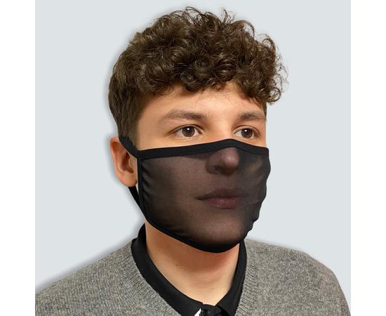 Маска защитная из сетки, чёрная, фото