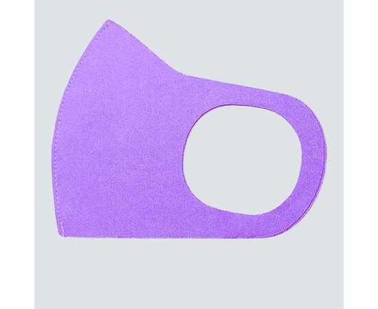 Маска из неопрена многоразовая, сиреневая, размер L-XL (1 шт.), С рисунком: без принта, Размер: L-XL (окружность 55-63), Цвет маски: Сиреневая, Тип товара: Многоразовая маска, фото , изображение 2