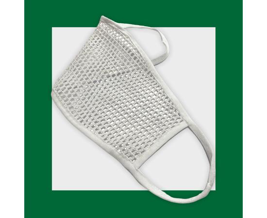 Маска защитная из сетки, белая, Размер: L-XL (окружность 55-63), Цвет маски: Белая, Тип товара: Сетчатая маска, фото , изображение 3